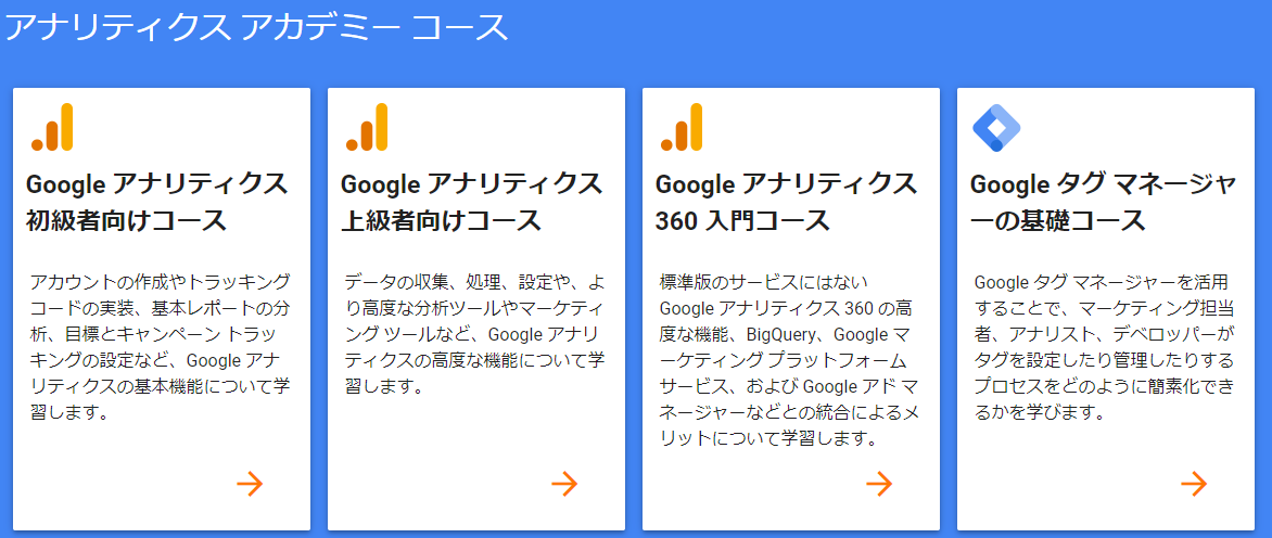 Googleアナリティクスアカデミーに挑戦
